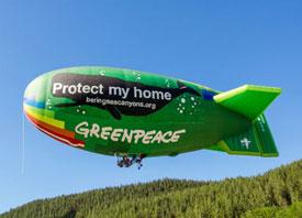 greenpeace airship