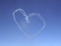 skywriting heart